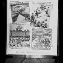 Four political cartoons of Upton Sinclair, [photograph of copies], 1934