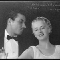 Polly Coumerihl, actress, with an actor, circa 1930-1939