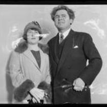 Portrait of painter Josef Sigall with his wife Marie Sigall, 1933